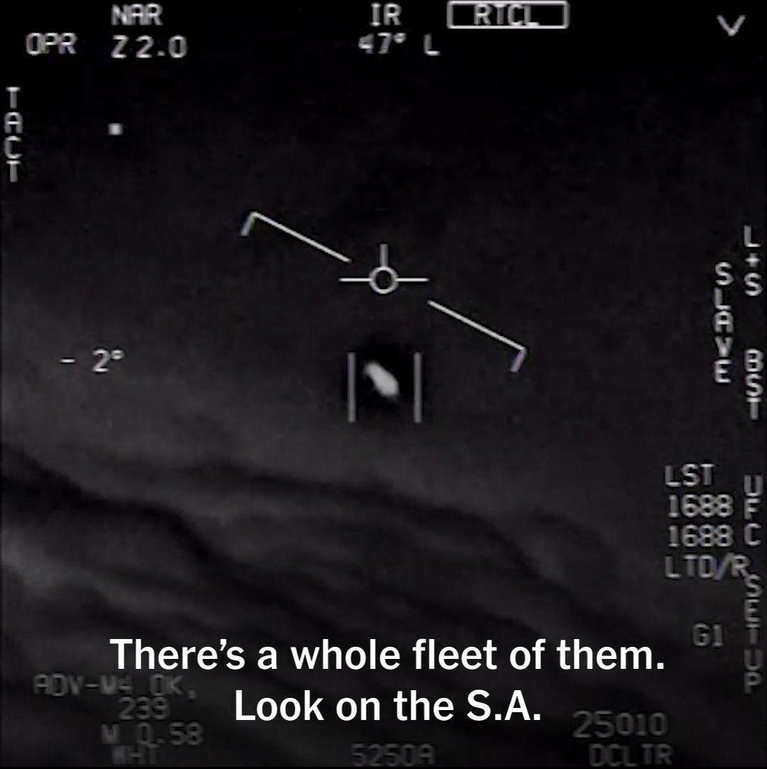 Navy Pilots Were Seeing UFOs on an Almost Daily Basis in 2014 and 2015. Infrared cockpit-camera footage taken on a after duty by a same U.S. Navy squadron reveals another immensely fastflying object, this one spinning in mid-air and relocating opposite a 120-knot wind, again accompanied by explanation from totally confused airmen. Although a footage shows usually one of these objects, a commander is listened to say: ?There?s a whole fleet? display adult on his monitors. And as a one in a film turns solemnly in a air, a repelled voice chimes in: ?Look during that thing! It?s rotating!? Between a summer of 2014 and Mar 2015, it?s now emerged, these unexplained objects were speckled roughly each day over a skies off a U.S. East Coast.