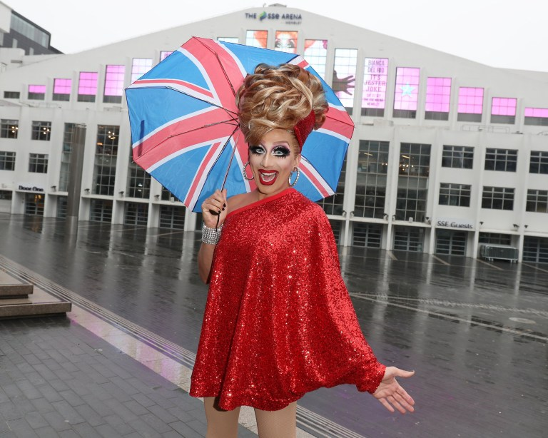 BIANCA DEL RIO - LONDON, ENGLAND - DECEMBER 05: Comedy Queen and RuPaul's Drag Race champion, Bianca Del Rio appears at SSE Arena Wembley ahead of her September 2019 UK arena tour on December 05, 2018 in London, England. (Photo by Neil P. Mockford/Getty Images)