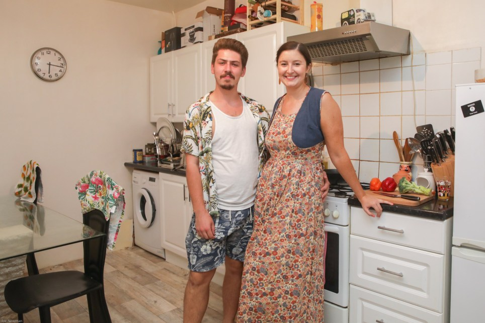 Michael Sheppard and Zoe in their kitchen at his home in Hackney, East London, part of the What I Rent series.