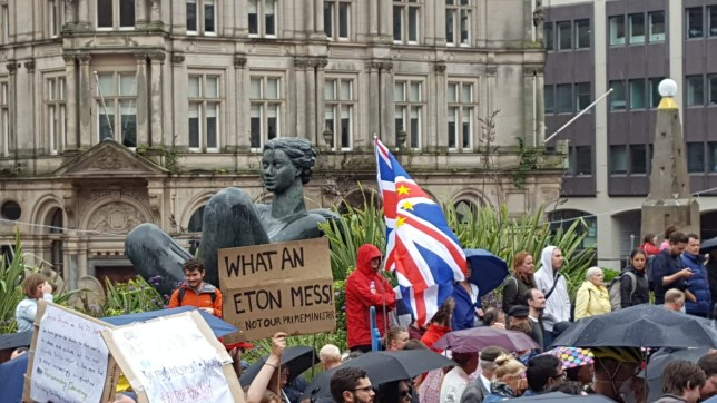 Protest pictures from Victoria Square today. Momentum organised protest against Boris Johnson suspending parliament
