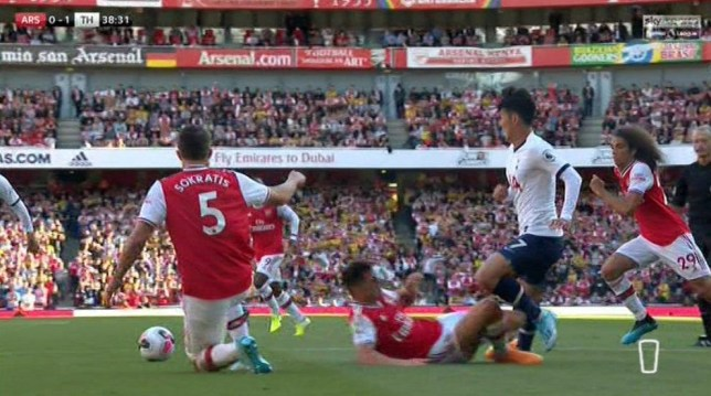 Granit Xhaka's foul gave Spurs the chance to double their lead over Arsenal