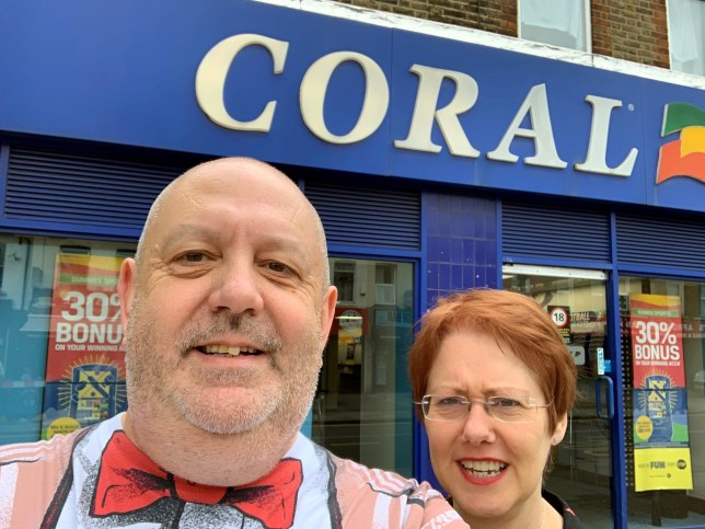 Paul and Joanne outside Coral