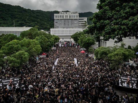 Hong Kong students boycott classes on first day of school