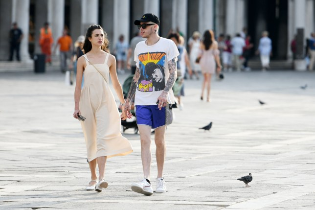 Pete Davidson and Margaret Qualley are spotted on September 02, 2019 in Venice, Italy. Pictured: Pete Davidson and Margaret Qualley Ref: SPL5112525 020919 NON-EXCLUSIVE Picture by: SplashNews.com Splash News and Pictures Los Angeles: 310-821-2666 New York: 212-619-2666 London: 0207 644 7656 Milan: +39 02 56567623 photodesk@splashnews.com World Rights, No France Rights, No Italy Rights