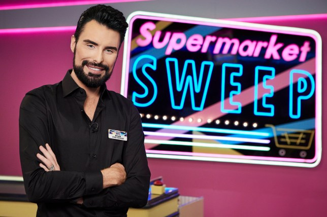 Rylan Clark hosting the Supermarket Sweep reboot