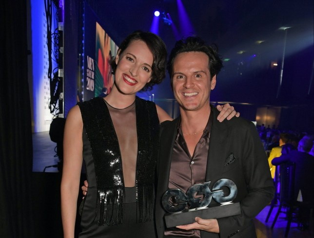 LONDON, ENGLAND - SEPTEMBER 03: Phoebe Waller-Bridge and Andrew Scott attend the the GQ Men Of The Year Awards 2019 in association with HUGO BOSS at the Tate Modern on September 3, 2019 in London, England. (Photo by David M. Benett/Dave Benett/Getty Images for HUGO BOSS)