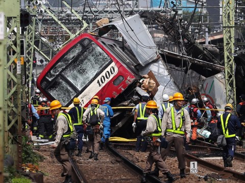Major injuries as train and lorry crash in Japan