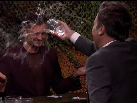 Orlando Bloom just loves getting wet with Jimmy Fallon