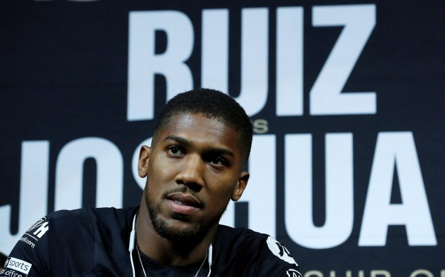 Boxer Anthony Joshua speaks at a news conference ahead of his heavyweight boxing title rematch against Andy Ruiz Jr. in New York, September 5, 2019. REUTERS/Mike Segar