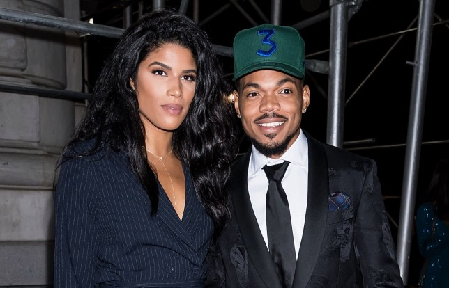 NEW YORK, NY - SEPTEMBER 07: Rapper Chance The Rapper (R) and Kirsten Corley are seen arriving to Harper's BAZAAR ICONS Party at The Plaza Hotel on September 7, 2018 in New York City. (Photo by Gilbert Carrasquillo/GC Images)