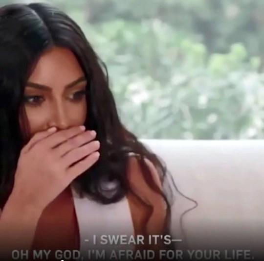 Picture: Kardashian Clips Kim K freaks out over Kourtney's bald spot