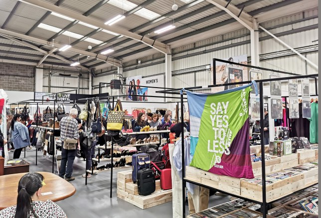 Oxfam opens charity shop superstore filled with designer brands including Moschino, Gucci and Victoria Beckham