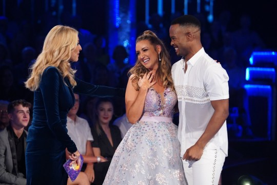 Tess Daly, Catherine Tyldesley and Johannes Radebe