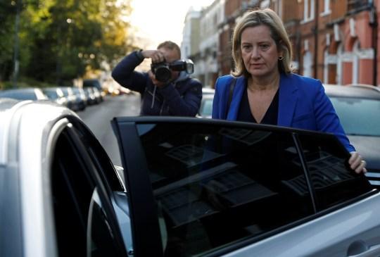 Amber Rudd leaves her home in London, Britain September 8, 2019. REUTERS/Peter Nicholls