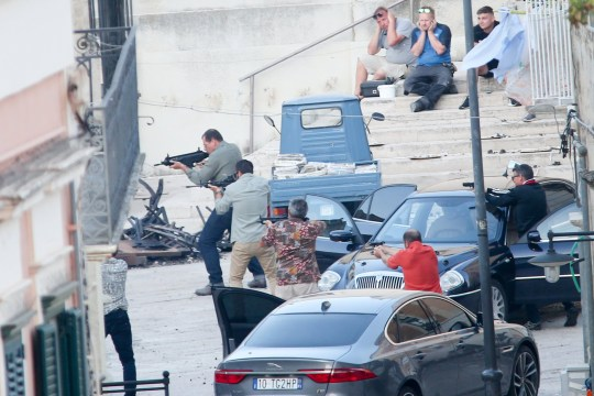 James Bond filming