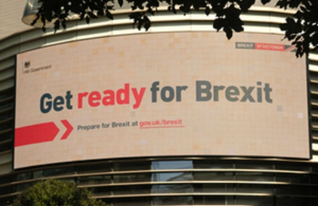 Undated handout photo issued by the UK Government of a billboard advert produced by the Government about Brexit. The Government has spent tens of thousands of pounds on Facebook adverts promising Britain will leave on October 31, despite MPs blocking no-deal. PA Photo. Issue date: Monday September 9, 2019. Figures from Facebook showed the Government had laid out ??30,531 on the targeted posts in the five days since they were launched on September 4 - the same week MPs voted to block a no-deal departure. See PA story POLITICS Brexit Facebook. Photo credit should read: UK Government/PA Wire NOTE TO EDITORS: This handout photo may only be used in for editorial reporting purposes for the contemporaneous illustration of events, things or the people in the image or facts mentioned in the caption. Reuse of the picture may require further permission from the copyright holder.