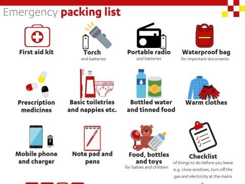 Police accused of scaremongering over emergency 'grab bag' warning