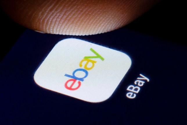 Ebay logo on a phone screen
