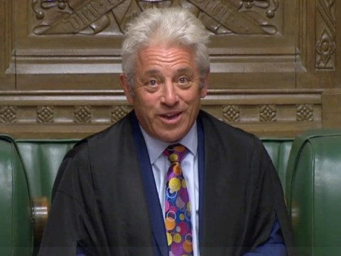 What political party is John Bercow part of and how long has he been the Speaker?