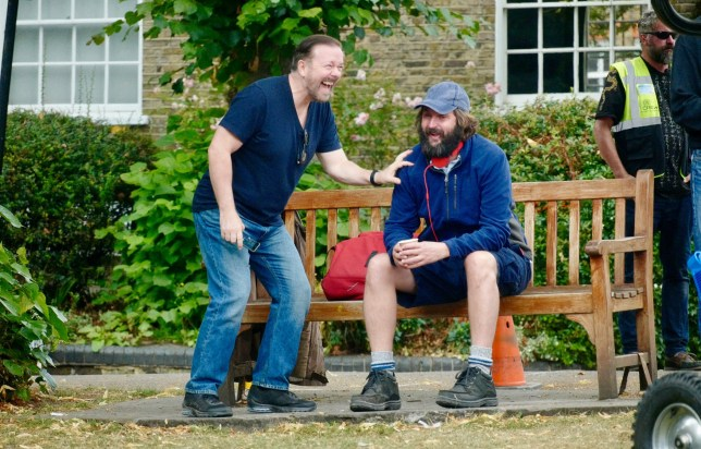After Life season 2: Ricky Gervais already in fits of giggles as he kicks off filming