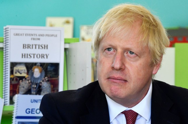 Prime Minister Boris Johnson speaks with year four and year six pupils during a visit to Pimlico Primary school in South West London, to meet staff and students and launch an education drive which could see up to 30 new free schools established. PA Photo. Picture date: Tuesday July 10, 2018. See PA story POLITICS Freeschools. Photo credit should read: Toby Melville/PA Wire