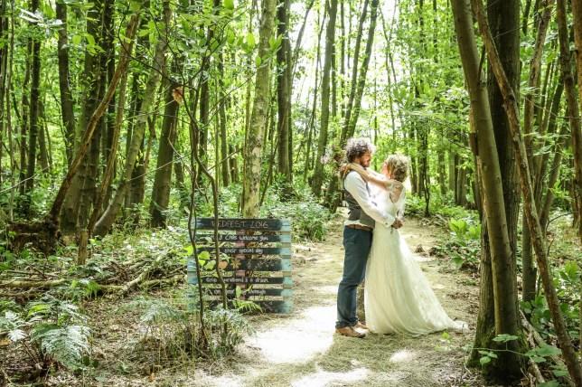 Emma Male on her wedding day