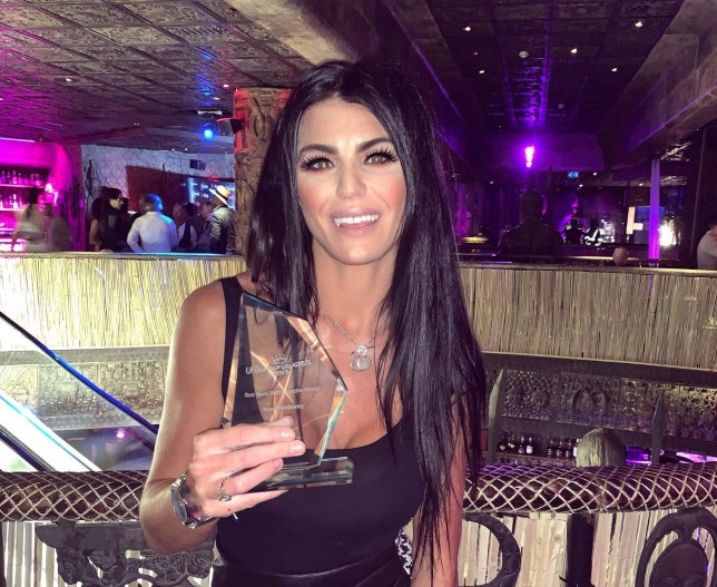 Bonnie Stainer from Saunton, North Devon, with her award after she was crowned UK Glamour Awards Model of the Year at a ceremey in London