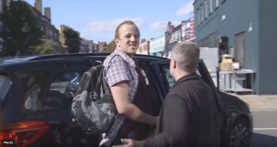 Undated handout videograb issued by LHR Pause Media of Mike Lynch-White being arrested in Bethnal Green, east London, on Thursday afternoon over plans to fly drones near Heathrow Airport. PA Photo. Issue date: Thursday September 12, 2019. See PA story PROTEST Heathrow. Photo credit should read: LHR Pause Media/PA Wire NOTE TO EDITORS: This handout photo may only be used in for editorial reporting purposes for the contemporaneous illustration of events, things or the people in the image or facts mentioned in the caption. Reuse of the picture may require further permission from the copyright holder.