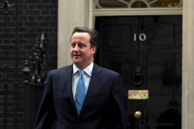 Former British Prime Minister David Cameron leaving 10 Downing Street