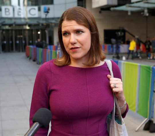 Britain's Liberal Democrats leader Jo Swinson talks to a reporter as she leaves BBC studios in London, Britain, September 15, 2019. REUTERS/Peter Nicholls