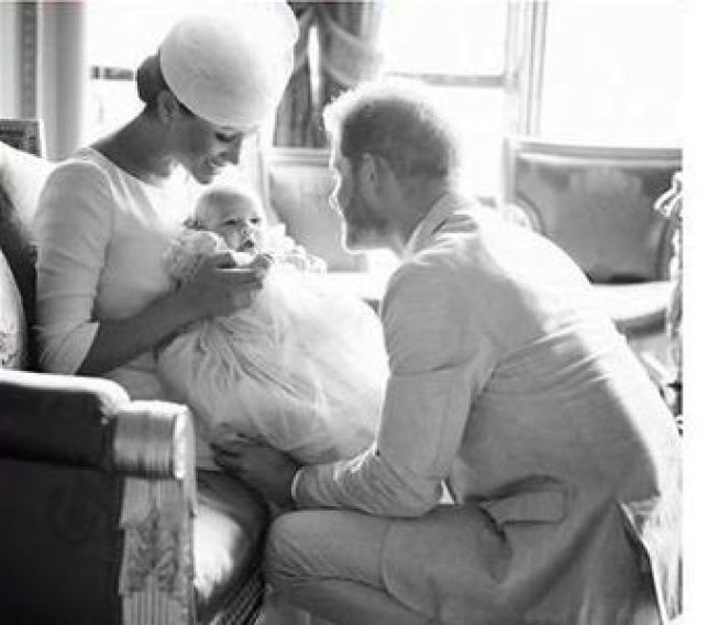 Prince Harry and Meghan Markle with baby Archie Harrison
