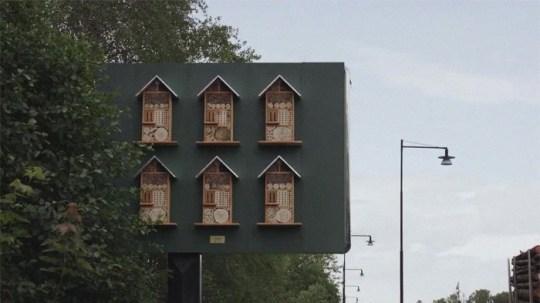 McDonalds billboards for bees