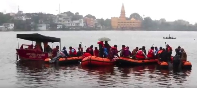 An official says a sightseeing boat has capsized on a swollen river in southern India, killing 12 people and leaving 35 others missing 12 dead, 35 missing in boat accident on southern India river Provider: AP