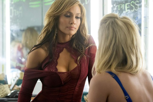 Jennifer Lopez in the movie Hustlers (2019)