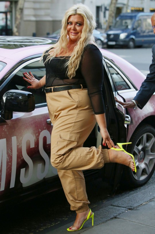 Gemma Collins with a miss-guided rolls royce
