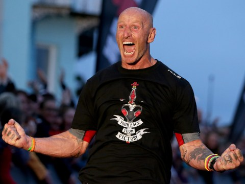 Who is Gareth Thomas' husband and when did he split from his wife as he discusses HIV diagnosis?