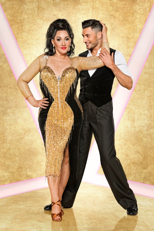 EMBARGOED TO 0001 TUESDAY SEPTEMBER 17 For use in UK, Ireland or Benelux countries only Undated BBC handout photo of Michelle Visage with her dance partner Giovanni Pernice who are appearing in this year's BBC1 dance contest, Strictly Come Dancing. PA Photo. Issue date: Tuesday September 17, 2019. Photo credit should read: Ray Burmiston/BBC/PA Wire NOTE TO EDITORS: Not for use more than 21 days after issue. You may use this picture without charge only for the purpose of publicising or reporting on current BBC programming, personnel or other BBC output or activity within 21 days of issue. Any use after that time MUST be cleared through BBC Picture Publicity. Please credit the image to the BBC and any named photographer or independent programme maker, as described in the caption.