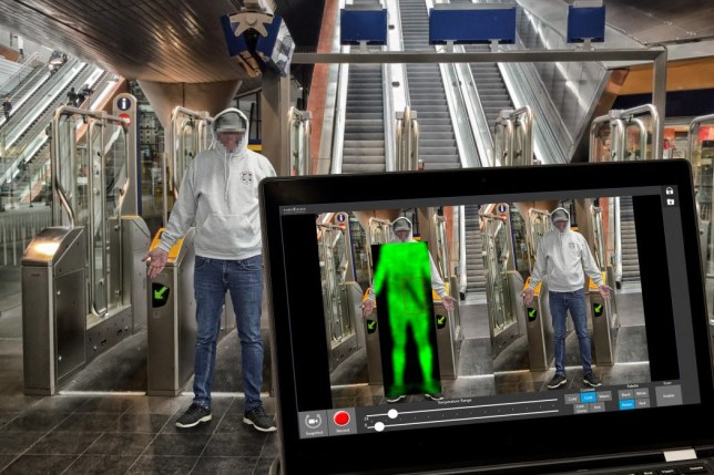 BODY scanners designed to detect guns, knives and explosive devices concealed under clothing will be used by police for the first time today. A Home Office-funded trial is taking place at Stratford station as part of a drive to crack down on London?s knife crime epidemic. British Transport Police is using the new scanners that works by revealing objects hidden inside clothing when they block heat given off by a person?s body.