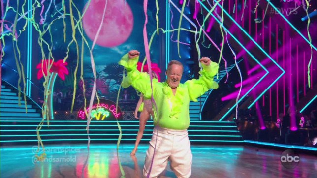 Sean Spicer and partner Lindsay Arnold perform on Dancing with the Stars on the night of September 16, 2019.
