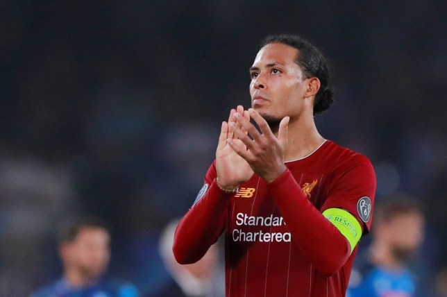 Soccer Football - Champions League - Group E - Napoli v Liverpool - Stadio San Paolo, Naples, Italy - September 17, 2019 Liverpool's Virgil van Dijk applauds fans after the match Action Images via Reuters/Andrew Couldridge
