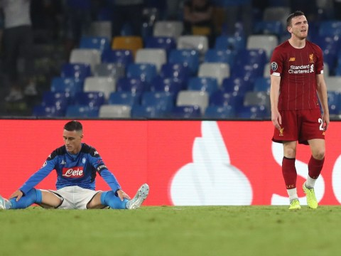Mark Lawrenson criticises Andy Robertson for 'lazy challenge' in Liverpool's defeat to Napoli