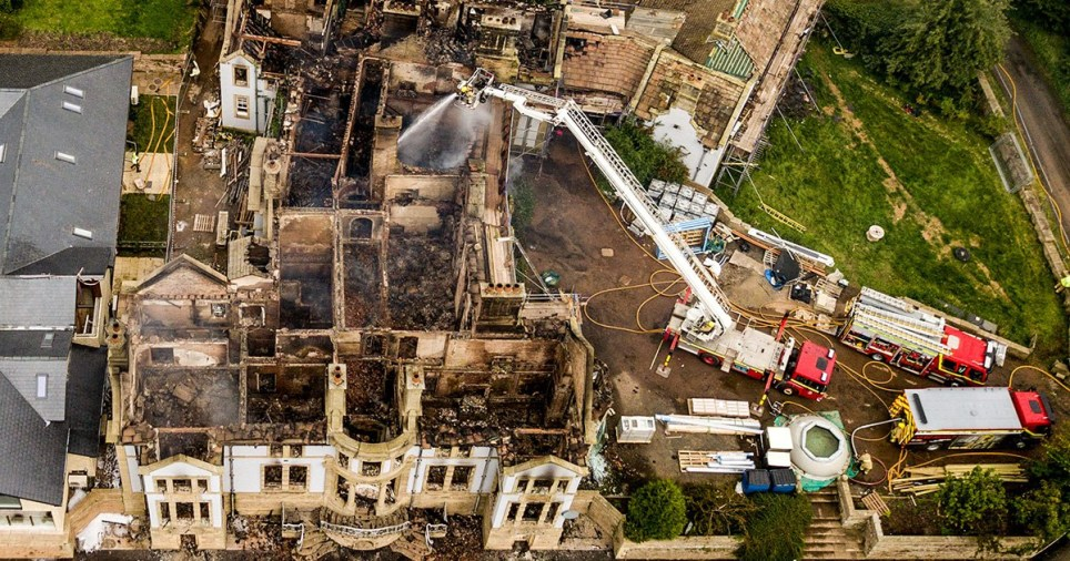 Seven fire engines and a joint incident command unit were used as firefighters spent most of the night tackling the blaze (Picture: SWNS)