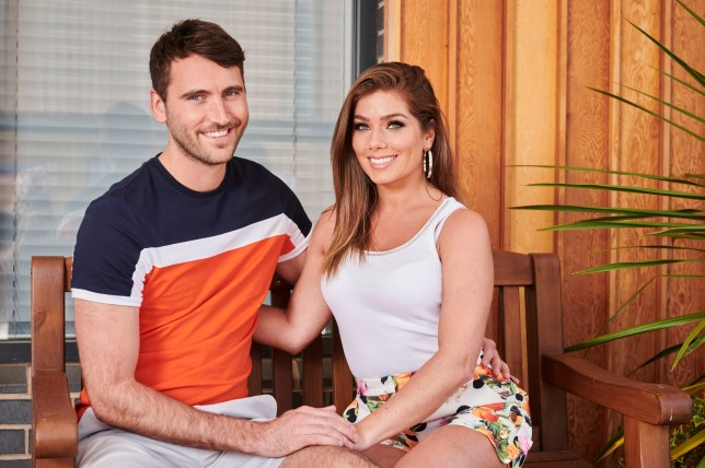 Maxine and Damon in Hollyoaks