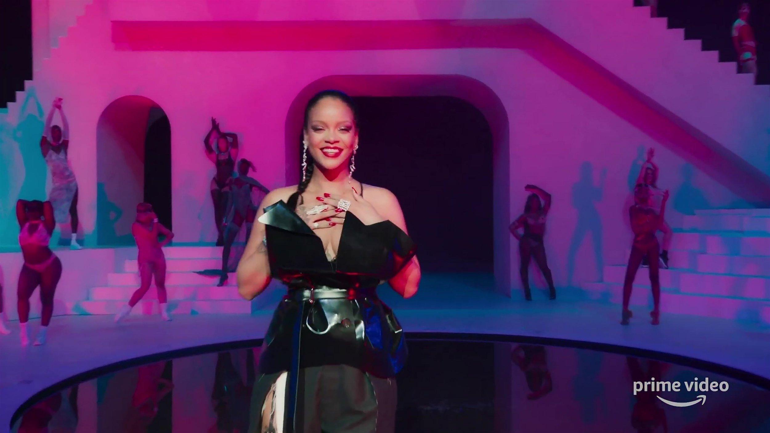 Rihanna models Savage x Fenty underwear as show streams on
