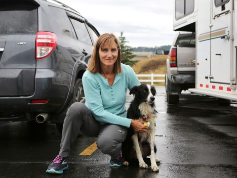 Woman quits her job to search for lost dog and finally finds her after 57 days