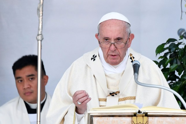 Pope Francis celebrates the Holy Eucharist on September 21, 2019 during a visit to the cathedral of Albano Laziale, southeast of Rome. (Photo by Alberto PIZZOLI / AFP)ALBERTO PIZZOLI/AFP/Getty Images