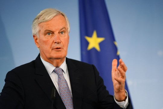 European Union's chief Brexit negotiator Michel Barnier speaks during a press conference after a meeting with German Foreign Minister Heiko Maas in Berlin, Germany, 23 September 2019