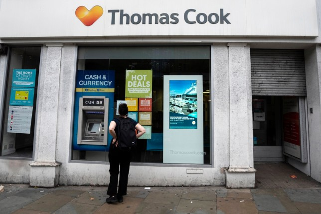 epa07864289 A Thomas Cook shop in Central London, Britain, 23 September 2019. More than 600,000 vacation reservations were canceled on 23 September, after Thomas Cook ceased to operate. According to media reports, the company's collapse will see Britain's largest peace time repatriation take place to get stranded customers home. EPA/WILL OLIVER