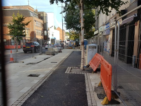 Trees planted in middle of new £2,750,000 bike lane