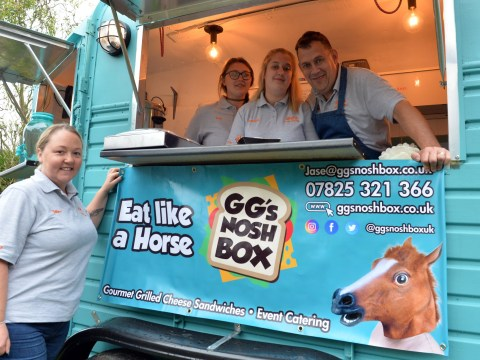 This horsebox's been turned into a gourmet sandwich truck and you can hire it for your parties